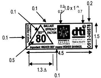 荧光灯镇流器的能效标签样式